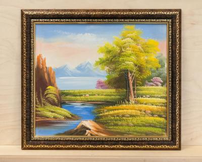 Картина -  яркий пейзаж