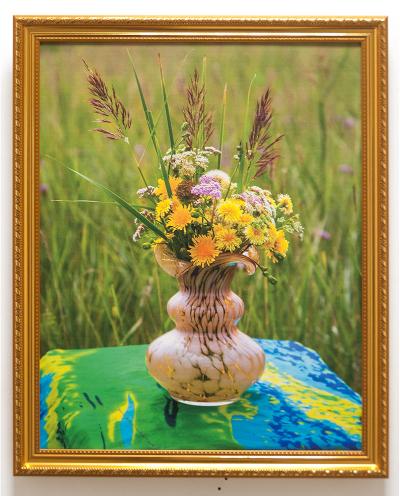 Фотокартина на холсте с летним букетиком цветов