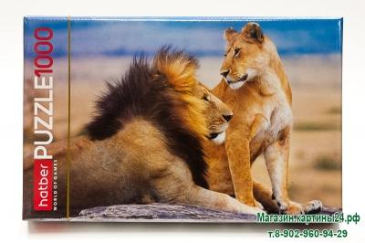 Пазлы со львами