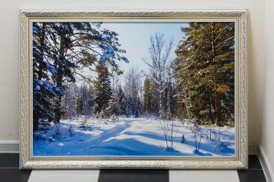 Фотокартина на холсте - зимний пейзаж
