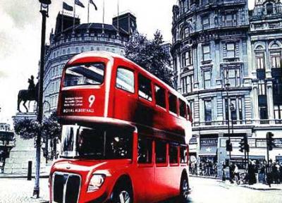 Набор для вышивки крестиком- на улице Лондона