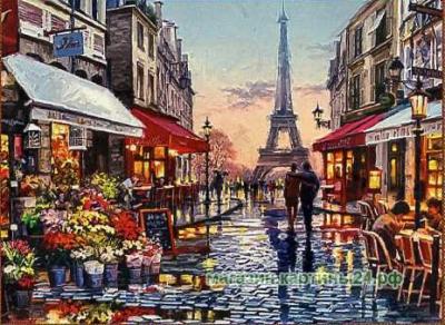 Набор для вышивания крестиком- Париж