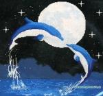 Набор для вышивки крестиком -дельфины
